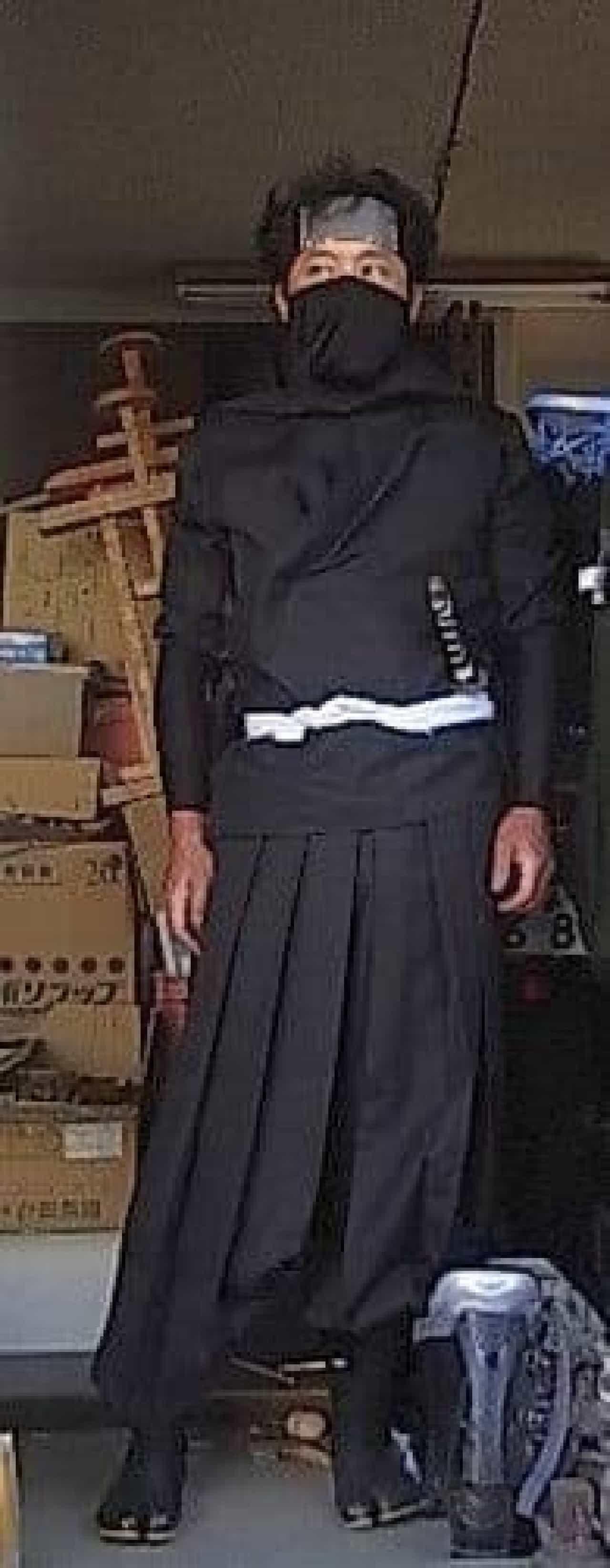 忍者のコスプレで参加した田中さん