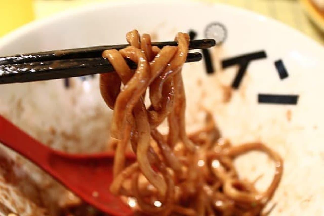 もちもちした太麺です