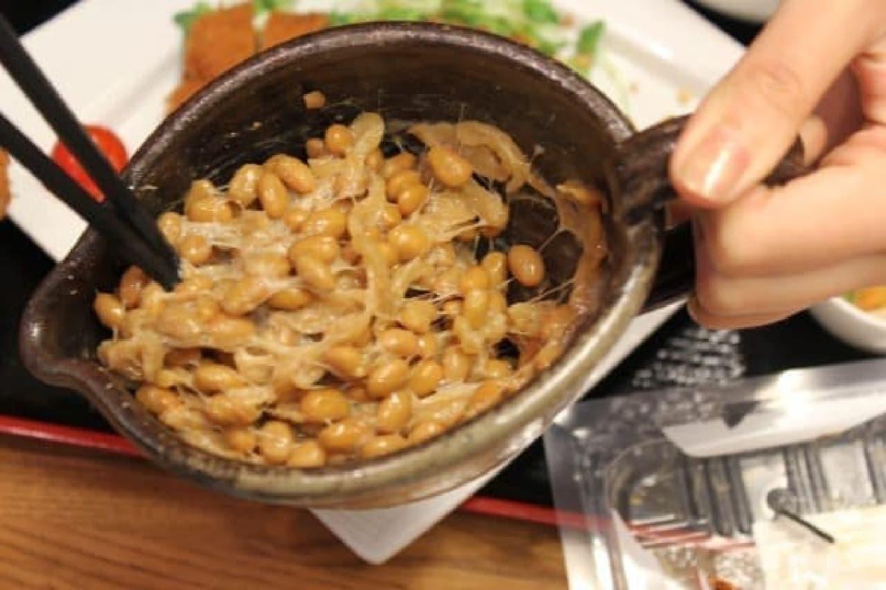 大根が細かく刻まれて入っている「しょぼろ納豆漬」