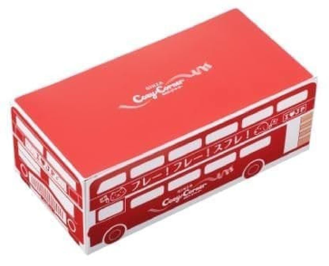 ロンドンバスをイメージしたパッケージが可愛いですね