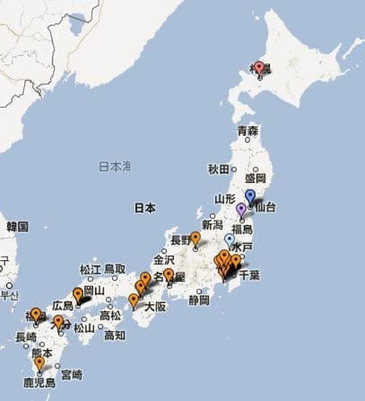 対象店舗マップ(クリックで飛べます)