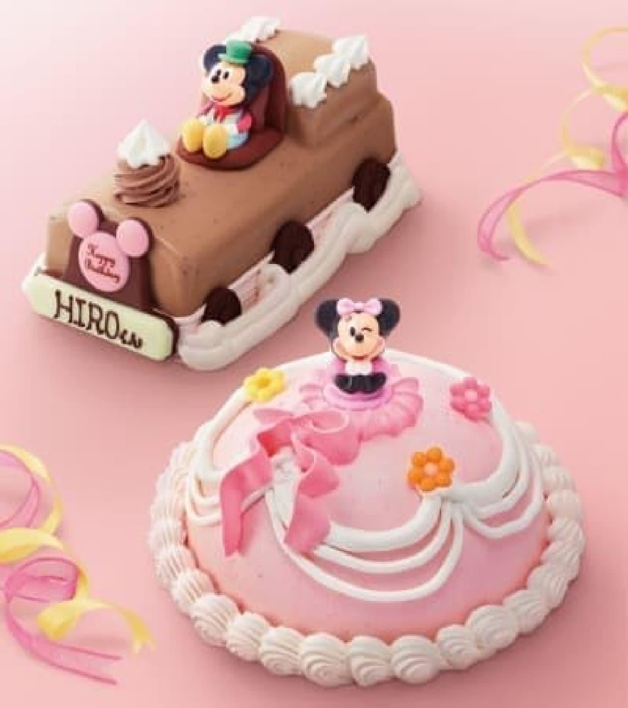 名前を入れたチョコプレートも付けられるよ  (C)Disney