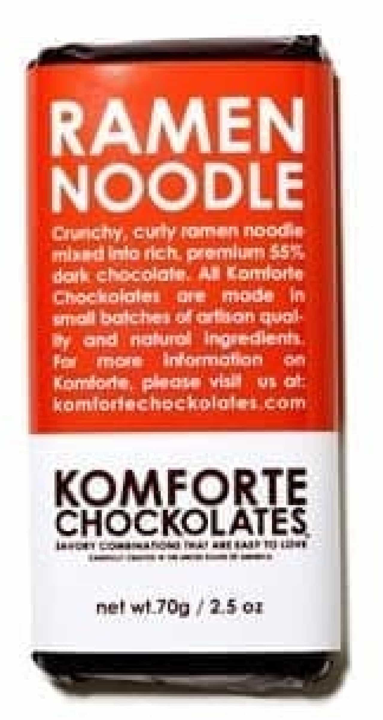 Komforte Chockolates の「Ramen Noodle」チョコバー