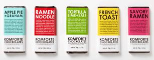 Komforte Chockolates の製品ラインナップ