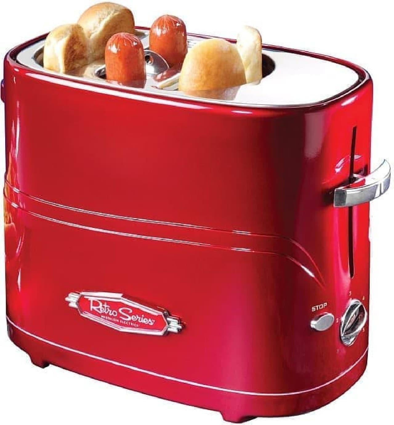 2012年1月に発売された「The Hot Dog Toaster」  ソーセージ2本とバンズ2つが同時に焼けます