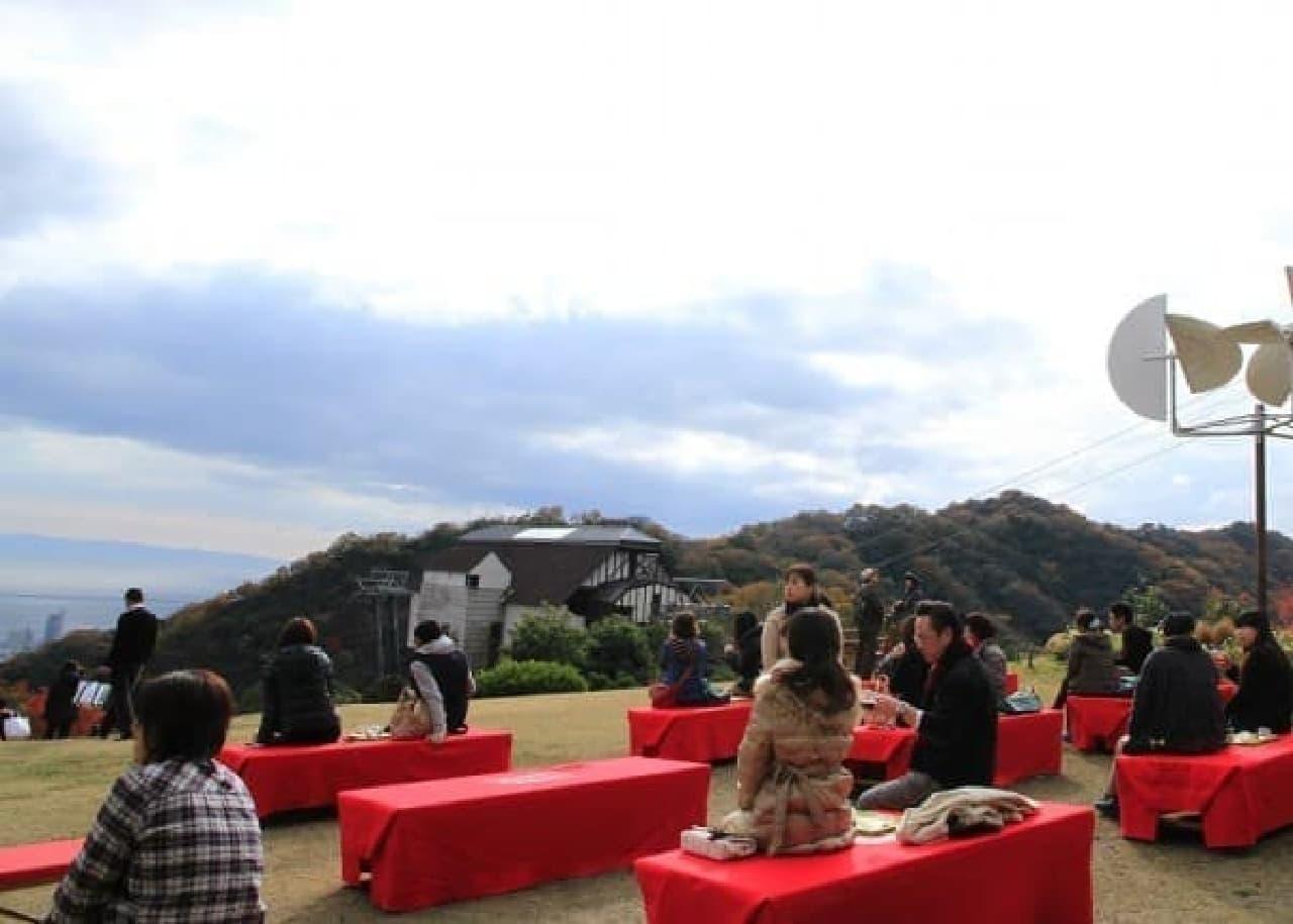 神戸の街なみを眺めながら・・・