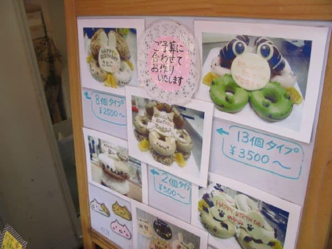 誕生日ケーキ風デコレーション