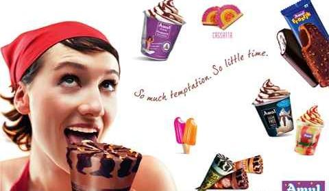 世界一のブランド、インドの「Amul」  インドでは一年中アイスクリームが売れるみたいですよ