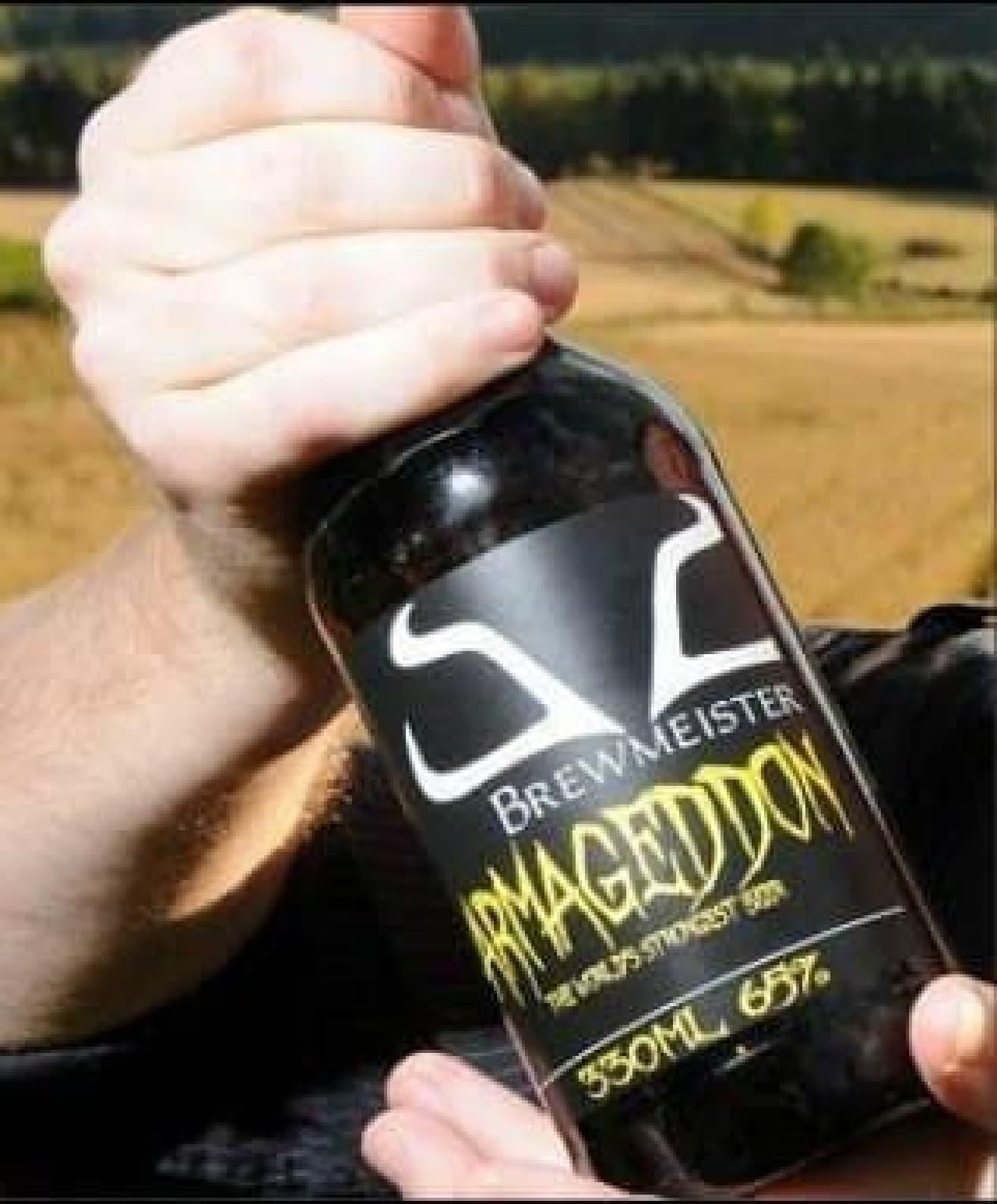 アルコール度数65度のビール「Armageddon(アルマゲドン)」