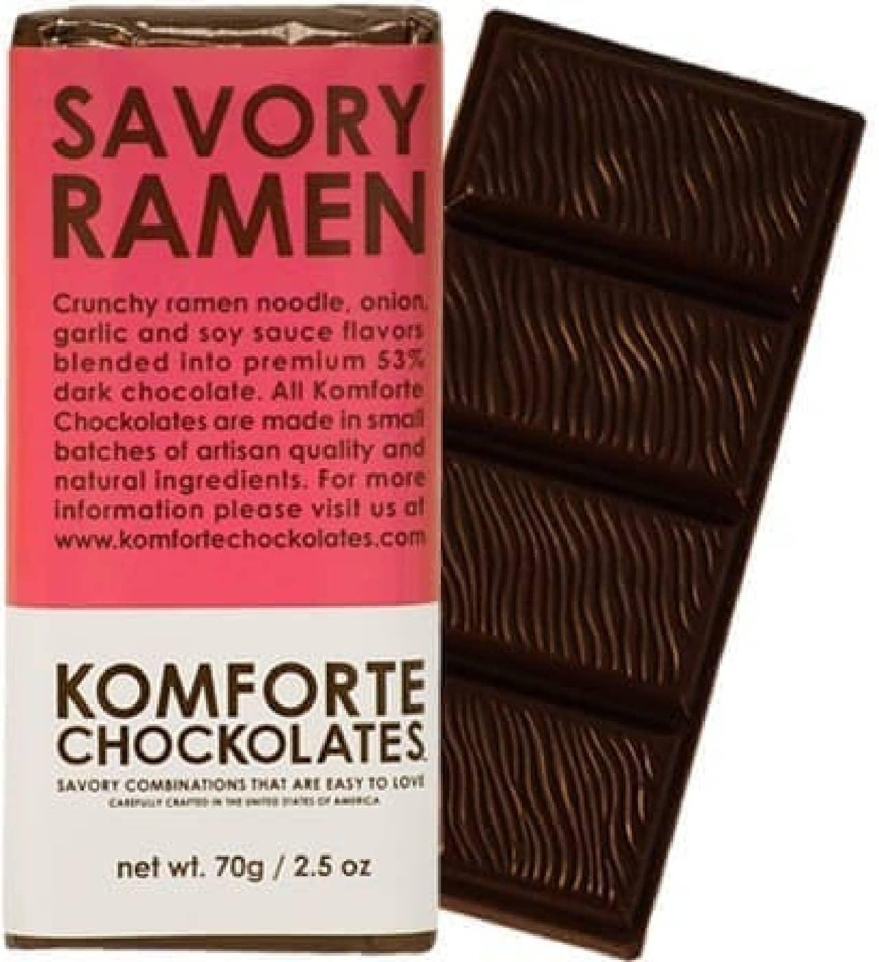 ラーメン味のチョコレートバー「Savory Ramen」
