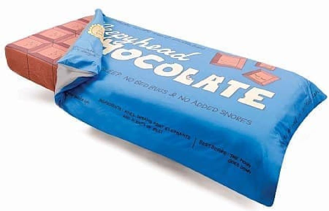 子どものための寝具セット「Chocolate Bar Bedding」  原材料名は「ゾウの夢」、賞味期限は「月が沈むまで」だそうです