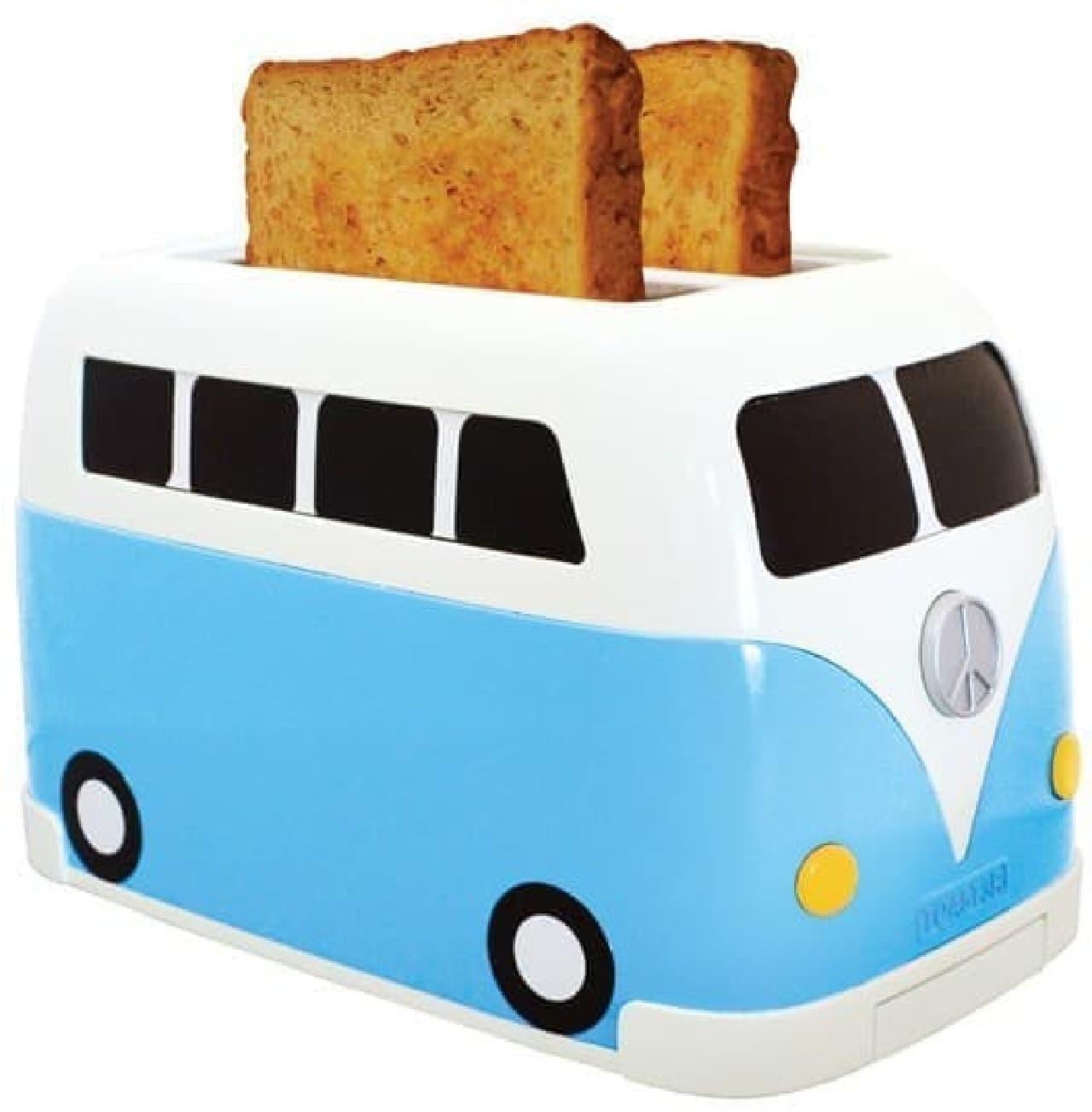 ワーゲンバスを模したトースター「Camper Van Toaster」