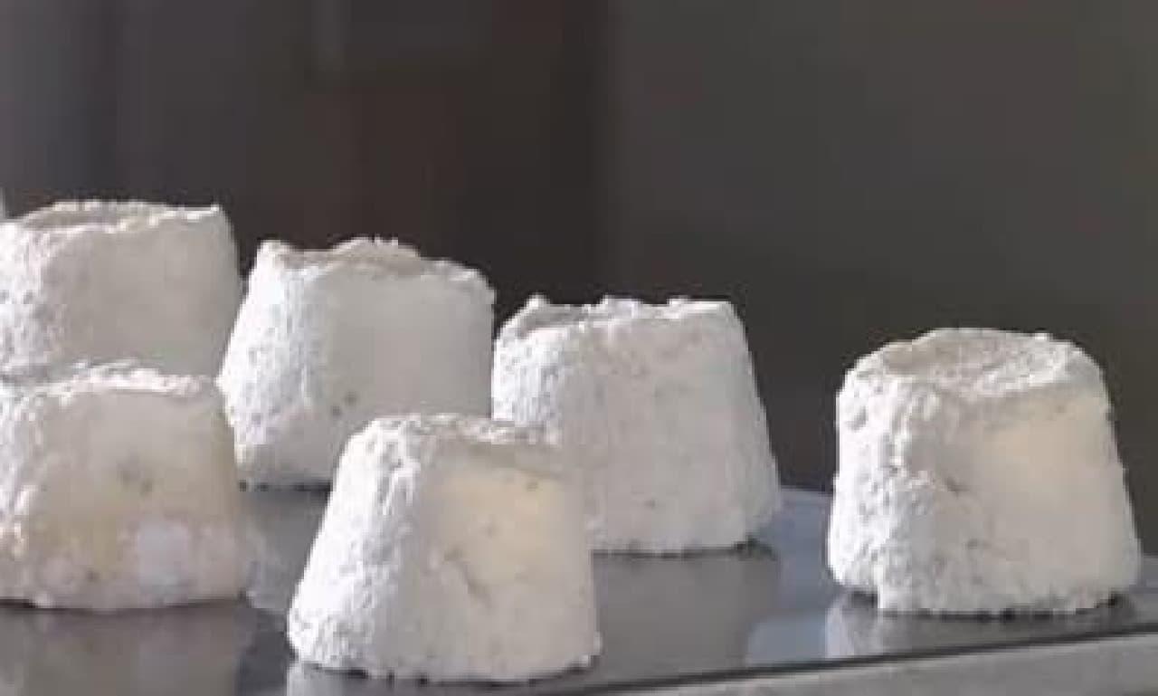 ロバのミルクから作られたチーズ