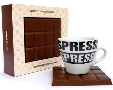 チョコレート型コースター「Chocolate Coasters」