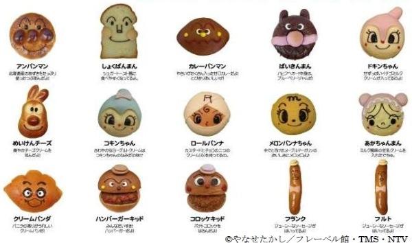 販売するキャラクターパン