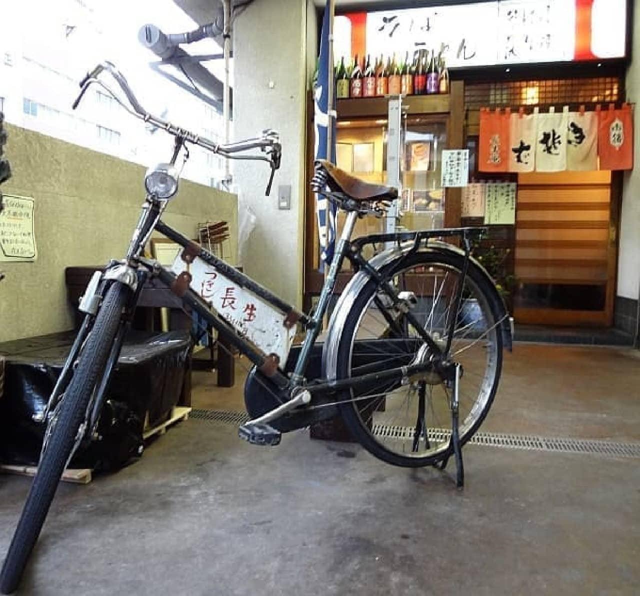 この自転車で築地を颯爽と駆け抜けます