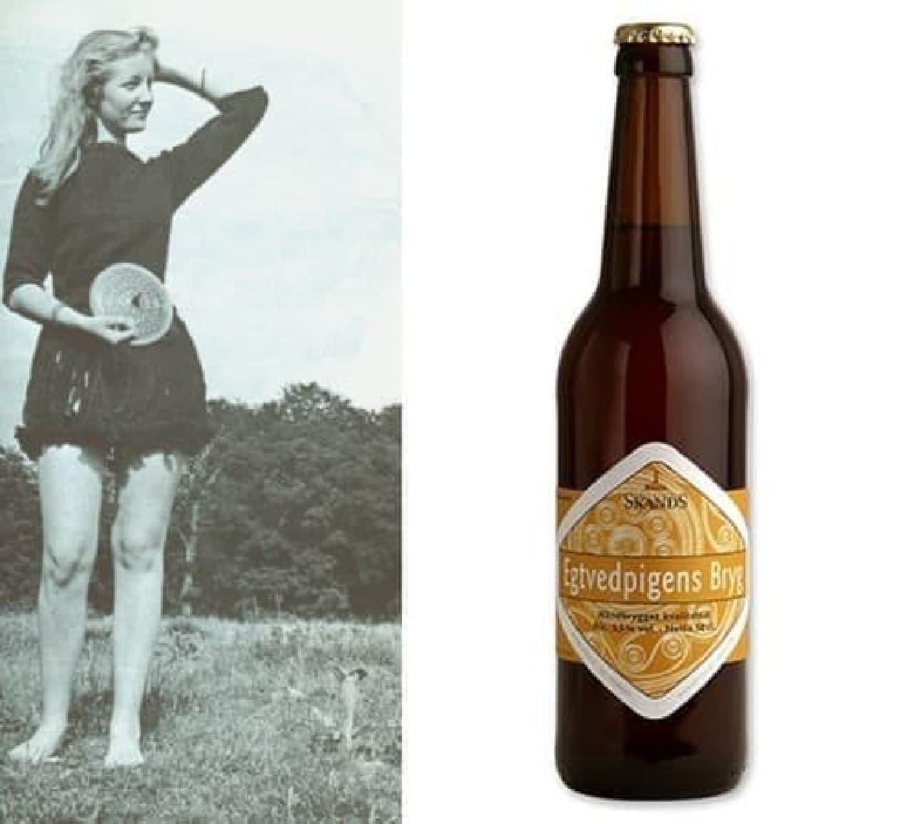左はエクトヴィズガールのイメージ(出典:Wikipedia)  右は当時の味を再現したエクトヴィズガール ビール