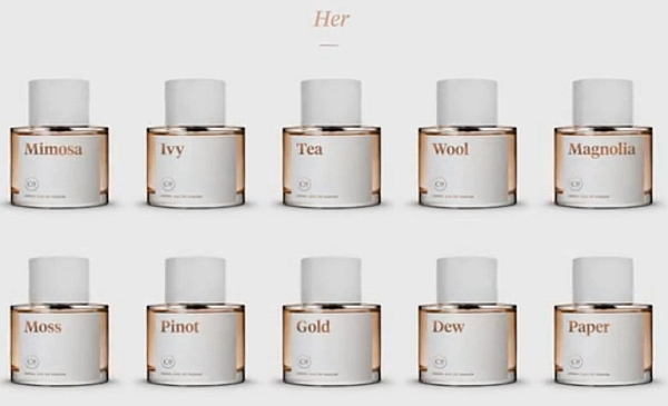 女性向け香水のラインナップ