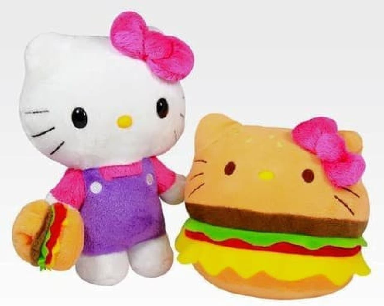 "「Hello Kitty Reversible 8"" Plush: Hamburger」  リボンがプリティ!"