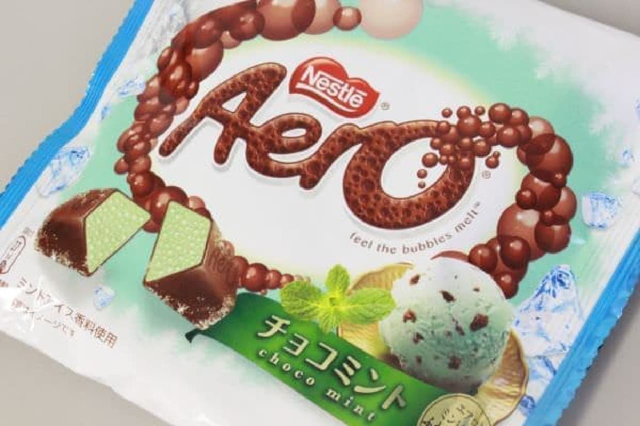 """凍らせて新食感!エアロとチョコミントの""""ふわほろ""""爽やかコンビネーション"""