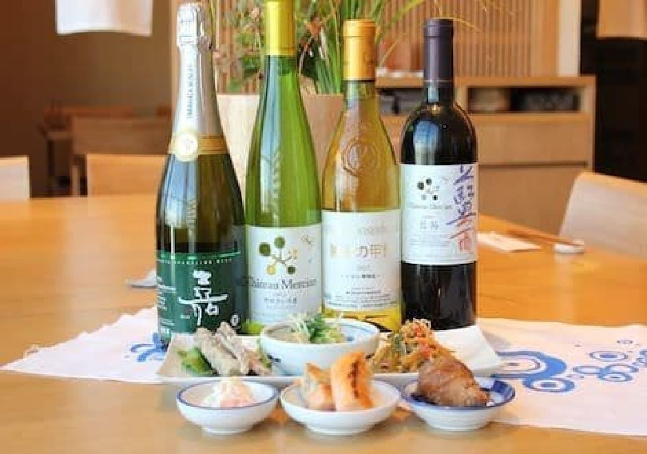 日本ワインと和食のマリアージュ