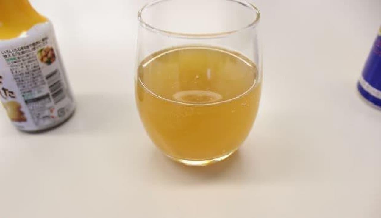 「生姜のしぼり汁」そのものにしか見えない