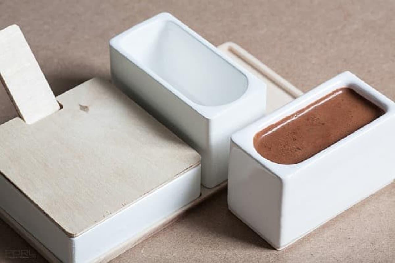 長方形をしたコーヒーカップセット「Espresso Set」  カップというよりは、ユニットバスの浴槽に見えませんか?