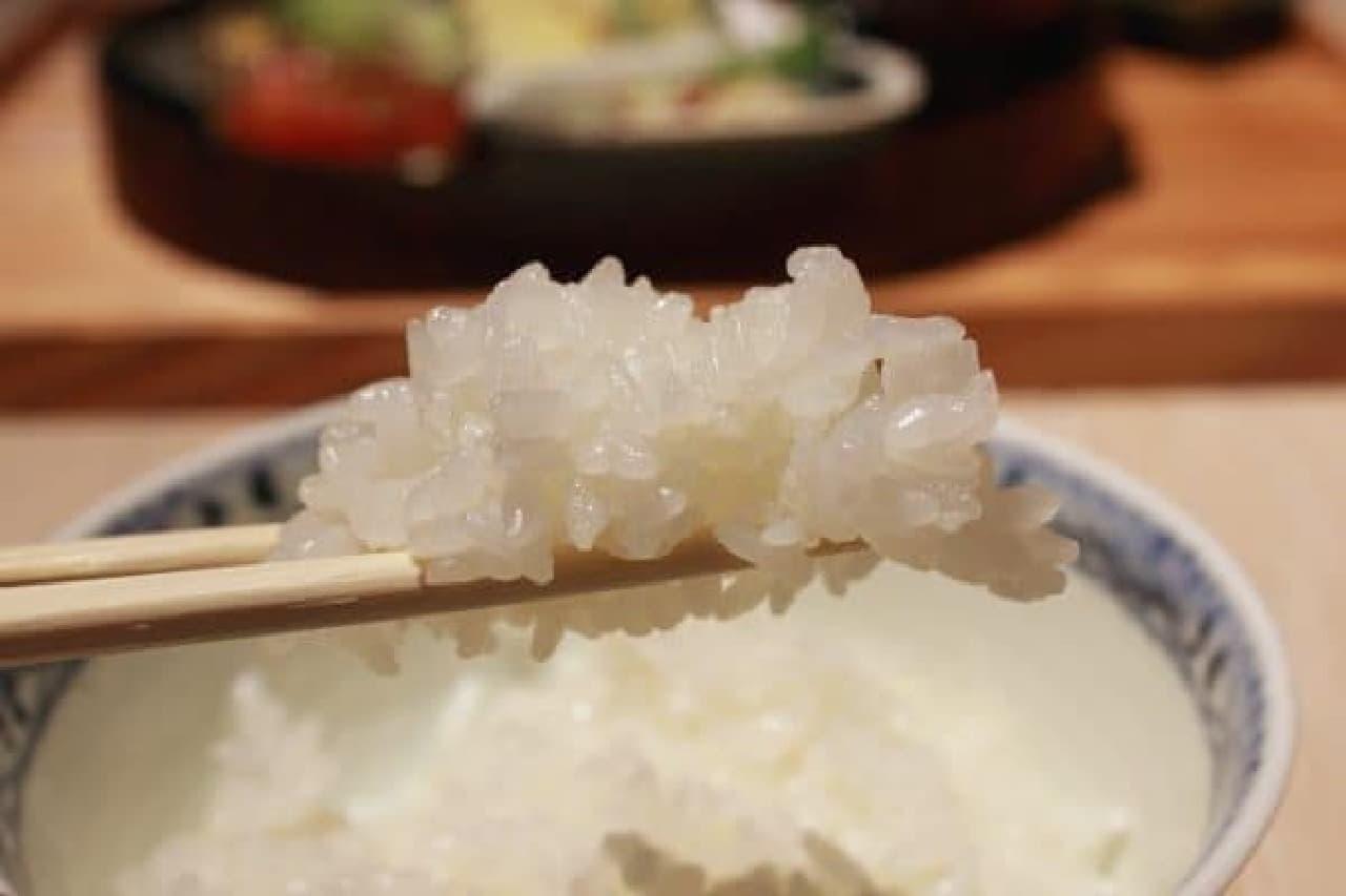 お米の美味しさを噛みしめて…