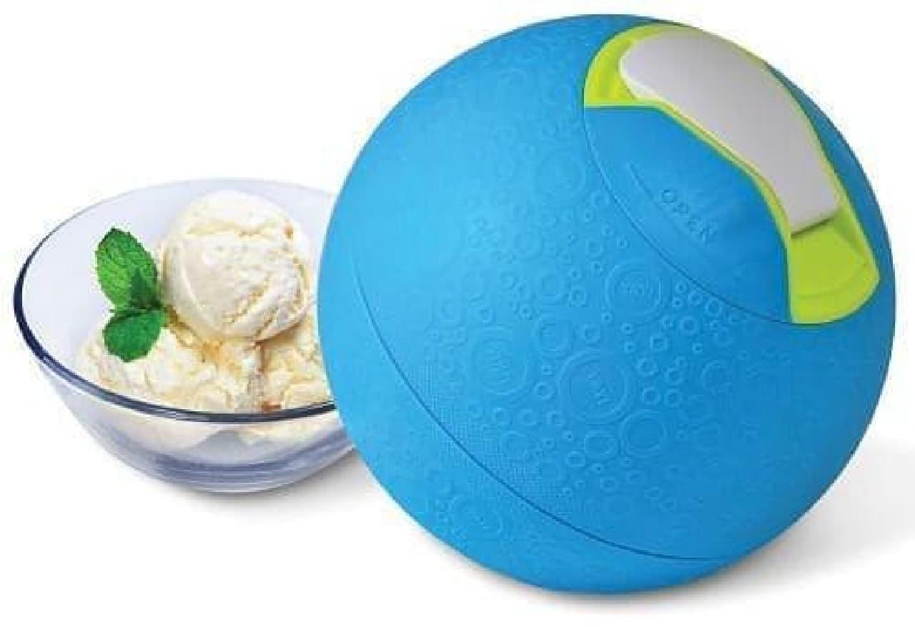 このボールを使ってあっという間にアイスが作れちゃう!