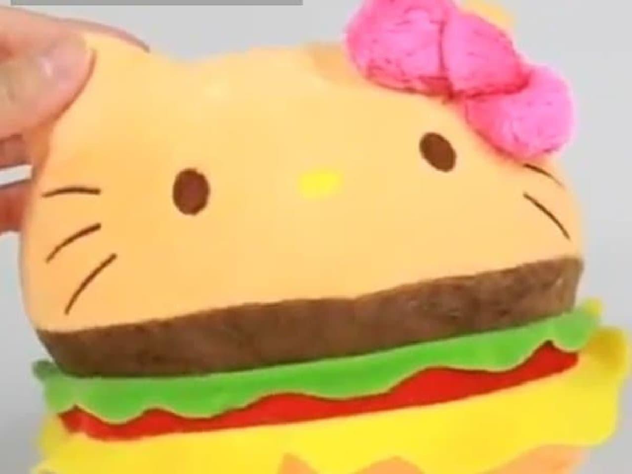 ハンバーガーキティさんのできあがり!