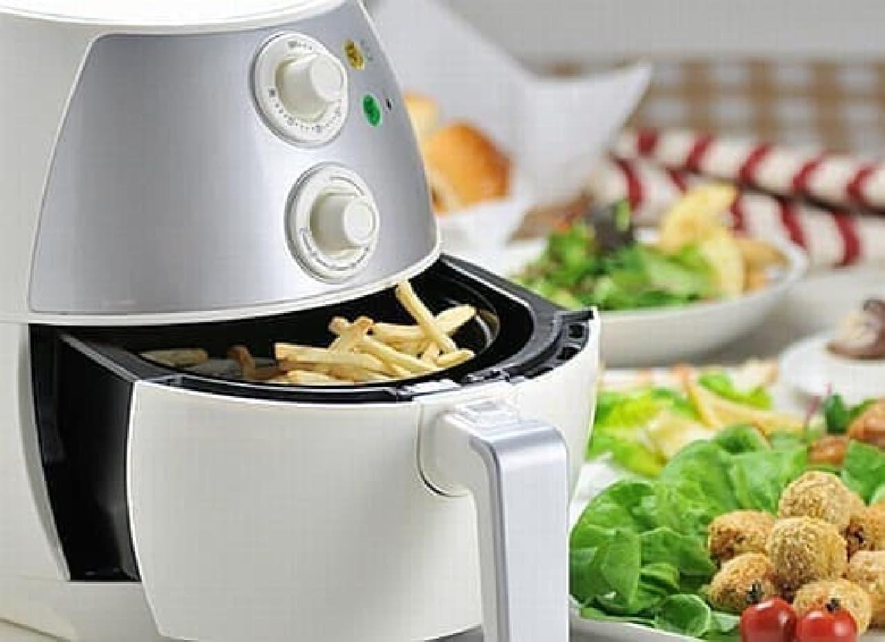 油を使わず揚げ物が作れる調理器具「ノーオイルフライヤー」