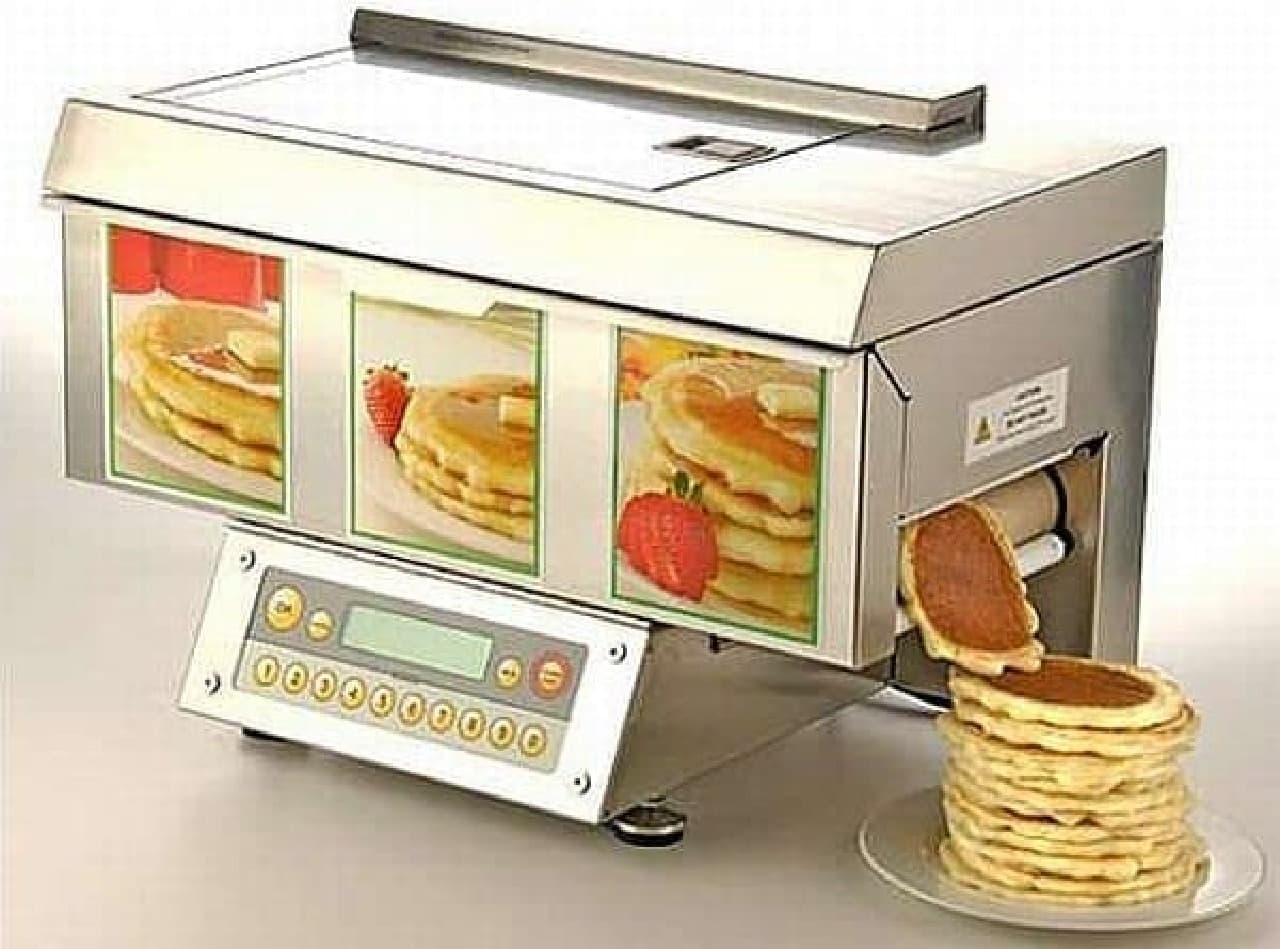自動パンケーキメーカー「Popcake」  1時間に180枚ものパンケーキを焼いてくれます