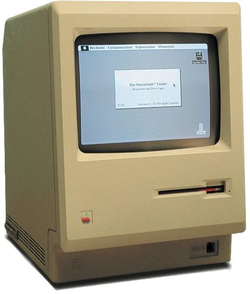 MaCool デザインのモチーフとなった初期型 Macintosh   懐かしい?