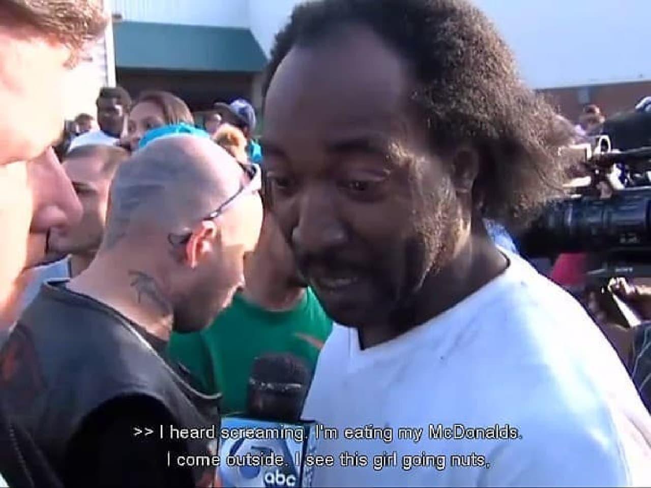 テレビ局のインタビューに答える Ramsey 氏