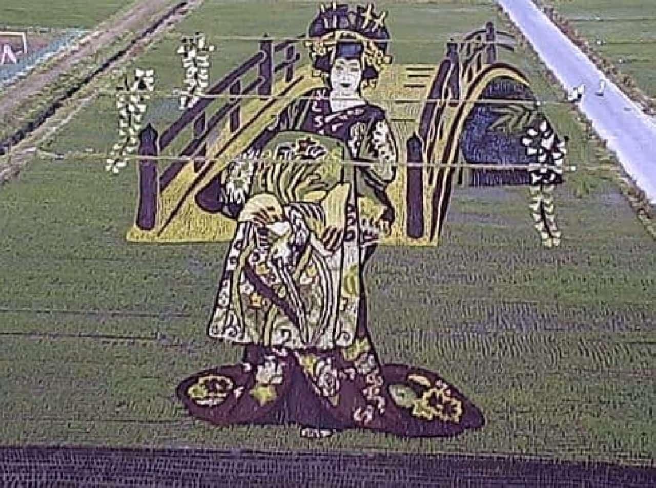 平成25年度作品『花魁とハリウッドスター』  写真は花魁