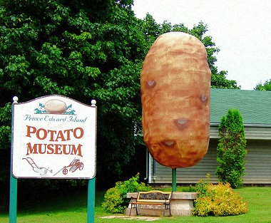 プリンスエドワード島の「ジャガイモ博物館」  筆者はここで読んだ  「ポテトチップスにするとビタミン C の吸収効率が高まる」  という説明を固く信じてます
