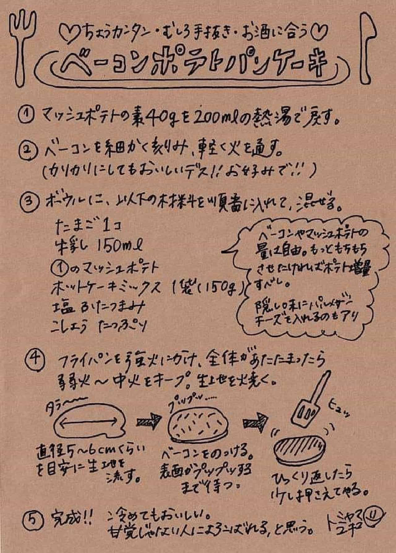 スペシャルパンケーキ レシピ
