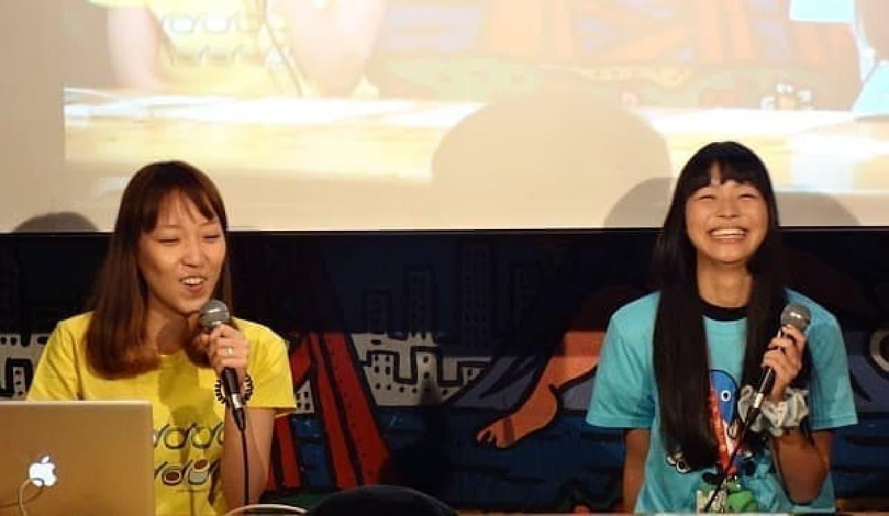 トミヤマユキコさん(左)と寺嶋由芙さん(右)