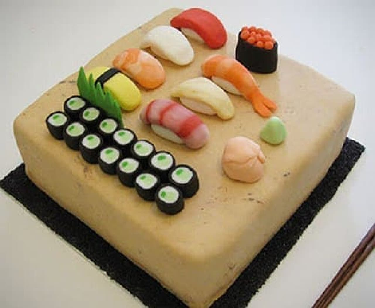 特注ケーキの例1:お寿司が好きな人向け?