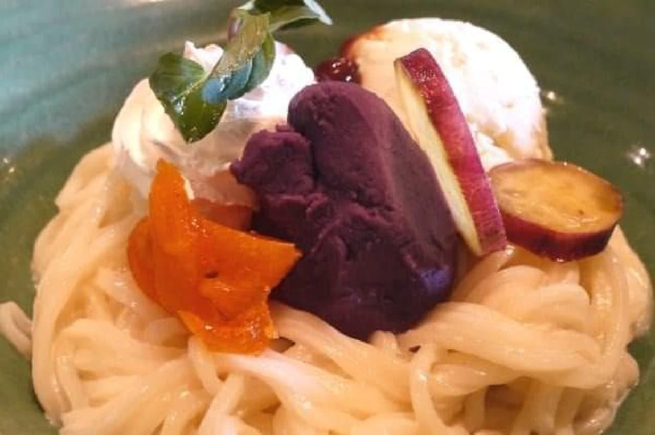 この紫芋クリームが絶品