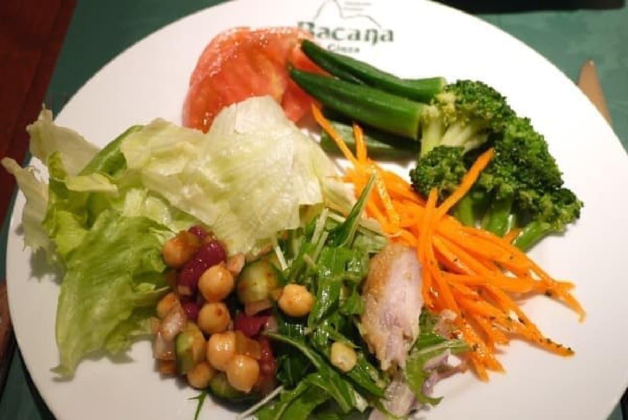 野菜も食べ放題!