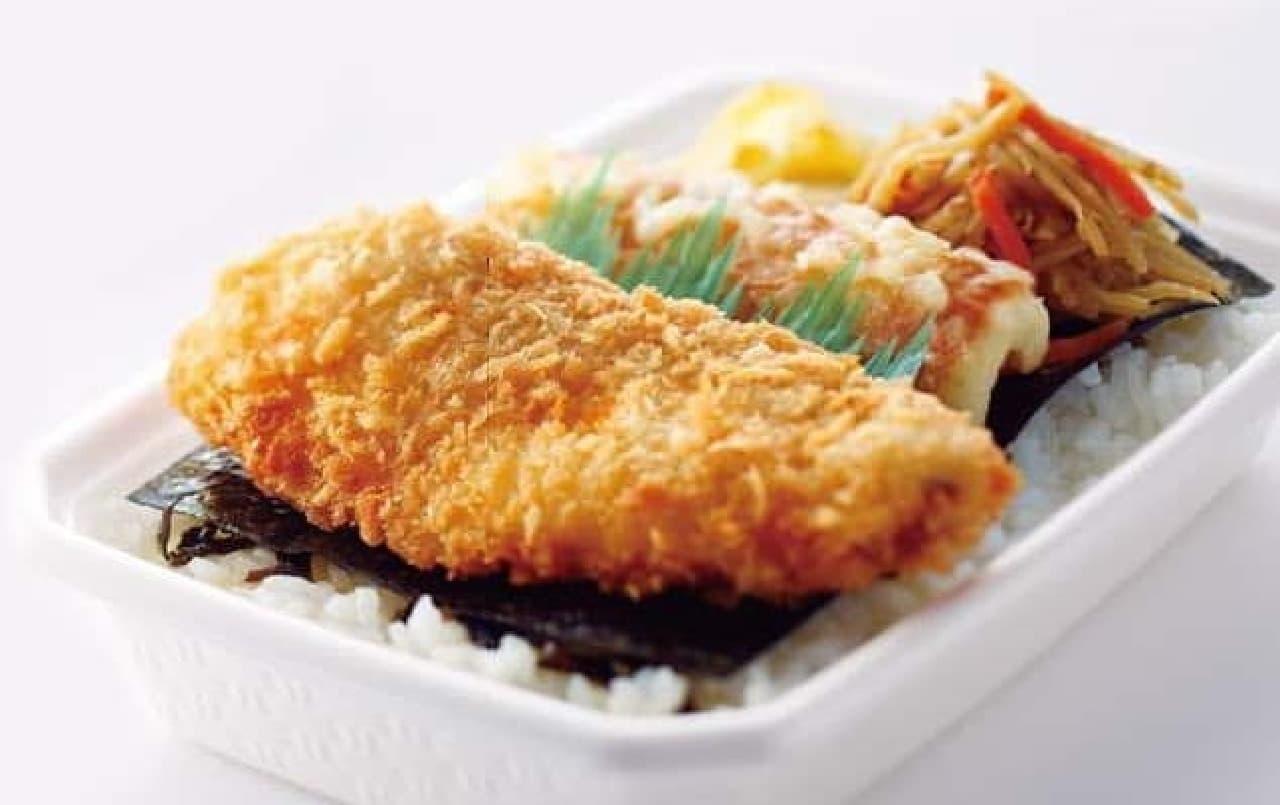 白身魚フライ入り「のり弁」が、なんと220円に!