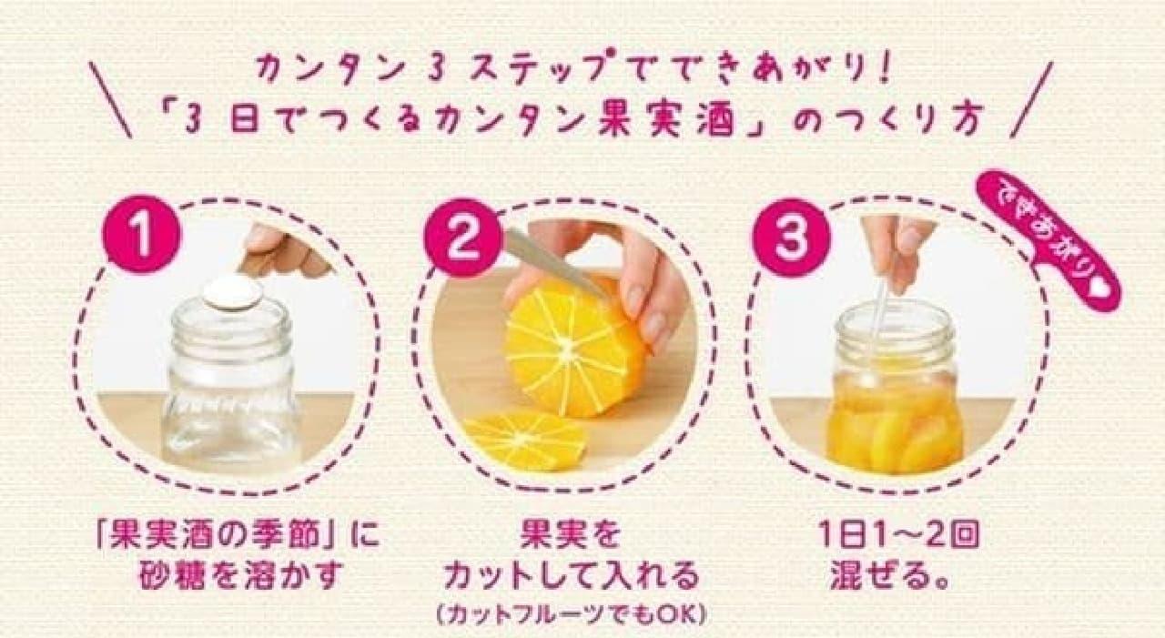 あまった果物でオリジナル果実酒を作るのもいいかも
