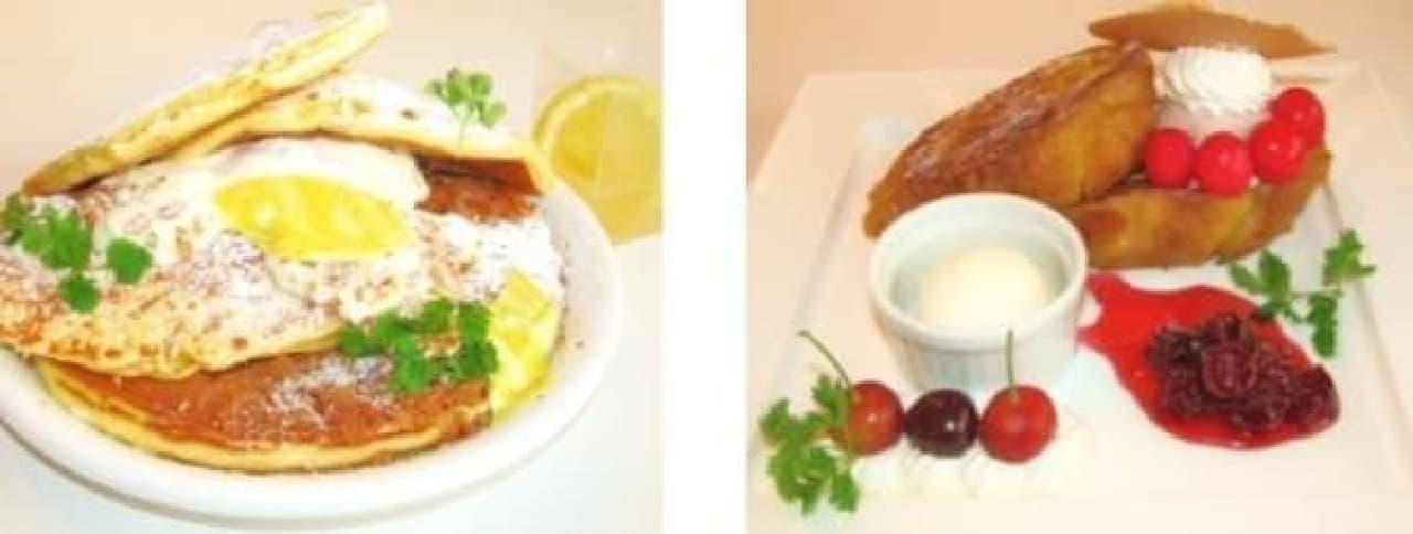 レモンパンケーキ(左)と新作パンペルデュ