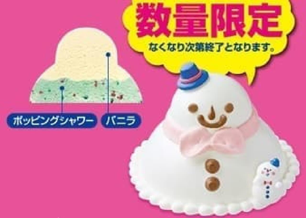 かわいい雪だるま型!
