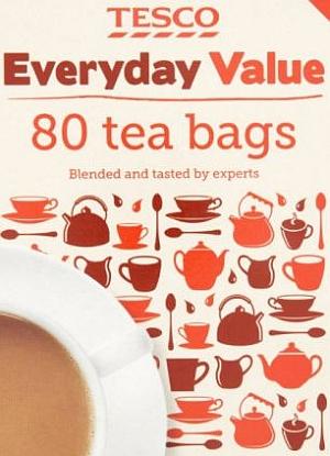 通常の紅茶よりも高いレベルのフッ化物が検出されたバリューブランドの1つ  「TESCO Everyday Value」