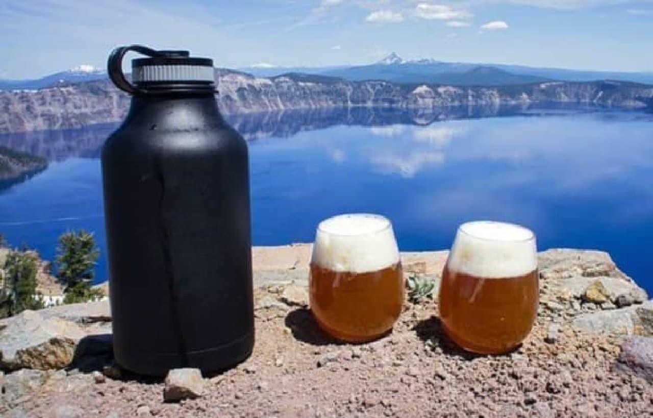 壮大な景色を眺めながらビールを飲む、極上のひととき