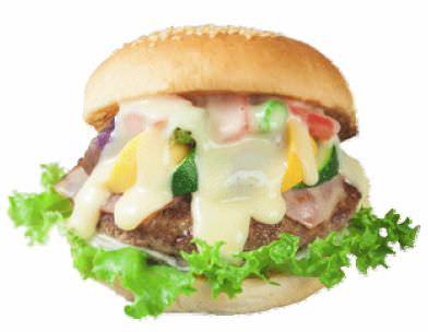 「チーズフォンデュ」をイメージしたご当地バーガー!
