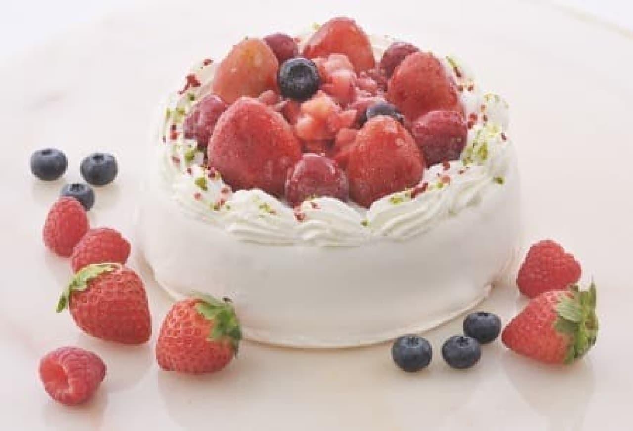 まるでデコレーションケーキのようなアイス