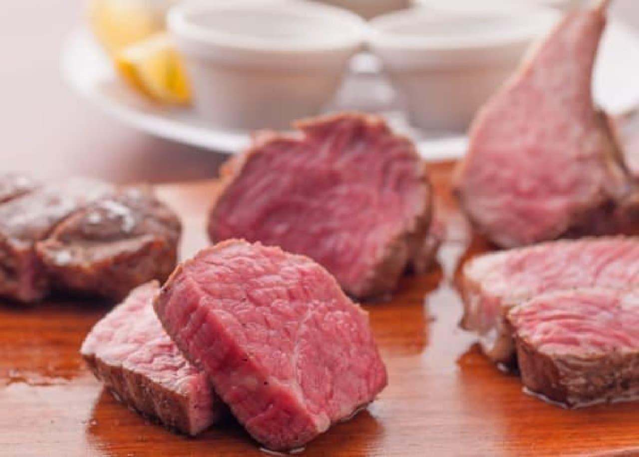 肉メニューが豊富にラインナップ